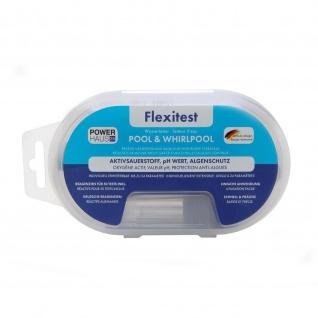 POWERHAUS24 Flexitest Chlor / Sauerstoff, pH-Wert & Algenschutz