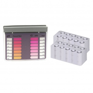 POWERHAUS24 Rapid Tester mit 200 Testtabletten Chlor und pH