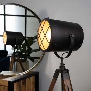 Pesaro Stehlampe Industrial Dreibein - Vorschau 3