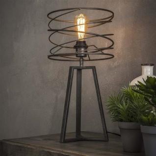Twist Tischlampe Industrial Grau Metall