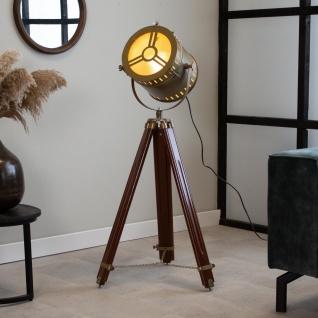Finn Stehlampe Industrial Bronze Tripod