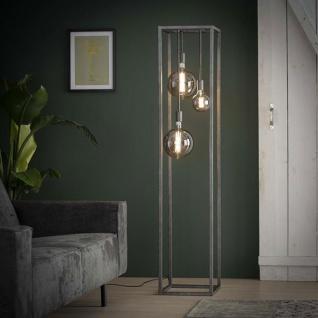 Sam Stehlampe Industrial XL Altsilbern
