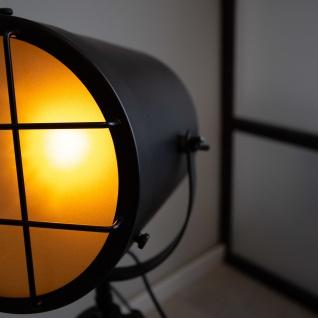 Pesaro Stehlampe Industrial Schwarz Dreibein - Vorschau 5