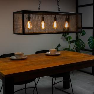 Sucre Pendelleuchte Vintage 4 Leuchten Schwarz