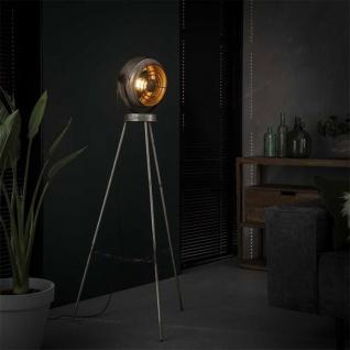 Bame Stehlampe Industrial Altsilbern