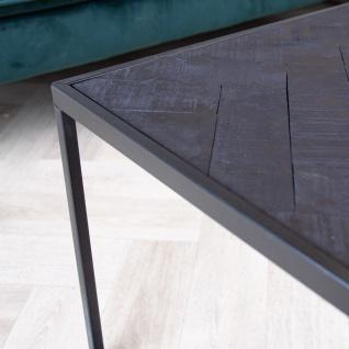 Dulce Couchtisch Industrial Schwarz 120x60 Grätenmuster - Vorschau 4