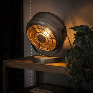 Bame Tischlampe Industrial Altsilbern
