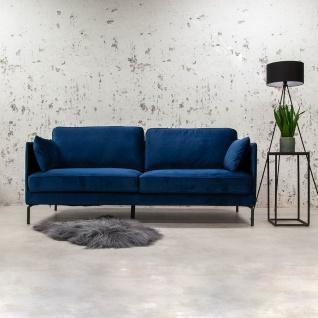 Peppin Sofa Industrial Blau Samt