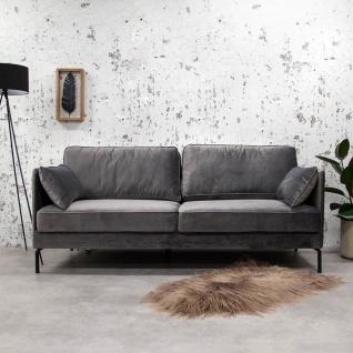 Peppin Sofa Industrial Anthrazit Samt