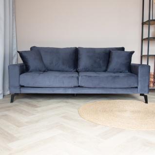 Brooks Sofa Industrial 2, 5-Sitzer Samt Anthrazit