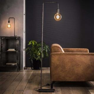 Gebogene Stehlampe Industrial