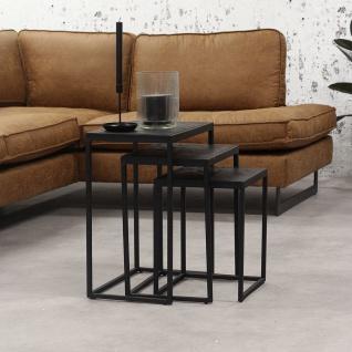 Blackster Beistelltisch Industrial 3er-Set