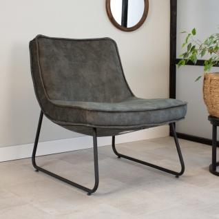 Lowen Sessel Industrial Samt Grün