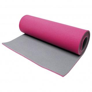 Best Sporting Fitnessmatte für Gymnastik und Yoga, pink-grau, 13mm dick, 60x200cm