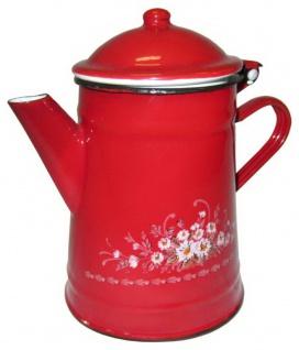 Best Sporting Kaffee-Kanne mit Deckel, 0, 5 oder 1, 0 L, rot oder Blumendekor - Vorschau 2