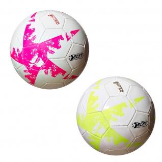 Best Sporting Fußball UNITED JR Größe 4 32 Felder pink/weiß oder gelb/weiß