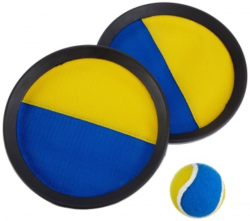 HUDORA 76463 - Klettballspiel 3.0, 2 Schläger, 1 Ball