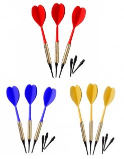 Best Sporting Safety Dartpfeile, 3 Stück à 7 g, Hülse aus Messing, unterschiedliche Farben