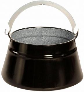 Best Sporting Emaille Glühwein/Suppenkessel, Größe von 6-24 L, schwarz B-Ware
