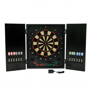 Best Sporting elektronische Dartscheibe GLASGOW Kabinett Dartboard mit LED-Display
