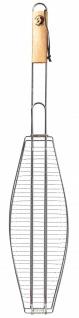 Best Sporting Fischgriller XXL mit Holzgriff, 72 x 14 x 3 cm