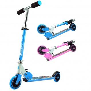 Best Sporting Scooter 125er Rolle, Tretroller für Kinder, klappbar, Farbe pink oder blau