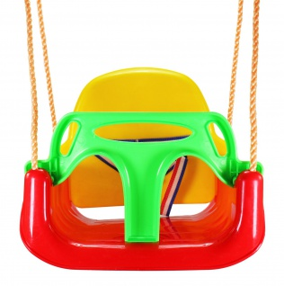 Best Sporting Babyschaukel Kleinkindschaukel 3 in 1 für den Garten, rot-gelb-grün