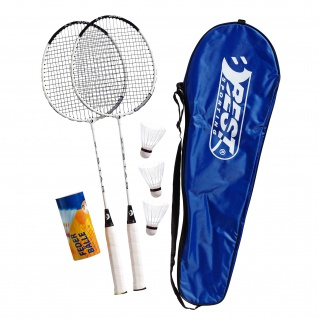 Best Sporting 200 XT Badminton Set , 2 Badminton Schläger 3 Bälle inklusive Tragetasche