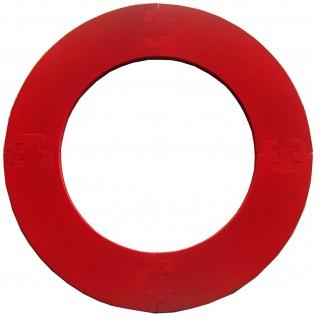 Best Sporting Dart Umrandung, passend für alle Dartboards mit 45, 5cm Durchmesser, vierteilig, 2, 5 kg, rot