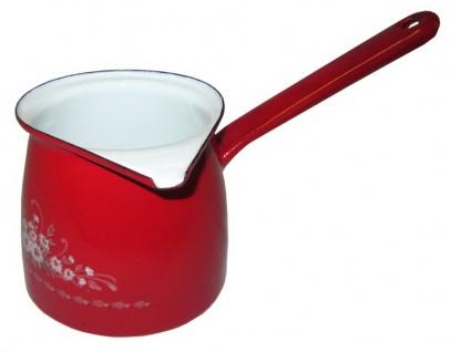 Best Sporting Bauchiger Kaffeegießer mit Stiel, Größe von 0, 3-0, 7 L, rot