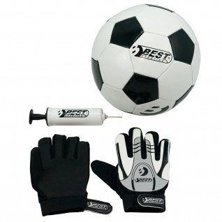 Best Sporting Set Fußball + Torwarthandschuhe + Ballpumpe