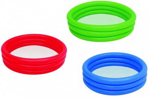 Bestway Pool Planschbecken, 122 x 25 cm, blau, grün oder rot