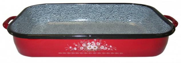 Best Sporting Ofen-Bräter mit Griff, Größe von 26-36 cm, rot
