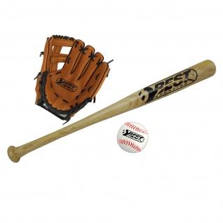 Best Sporting Baseball Set für Kinder Schläger Handschuh und Baseball + Tragetasche