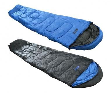 Best Sporting Mumien-Schlafsack 210cm blau oder schwarz