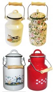 Best Sporting Milch-Kanne mit Deckel, 1 L - 4 L, verschiedene Designvarianten