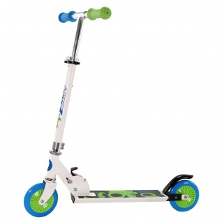 Best Sporting Scooter 125er Rolle, Tretroller für Kinder, klappbar, Farbe weiß/blau oder schwarz/orange - Vorschau 2