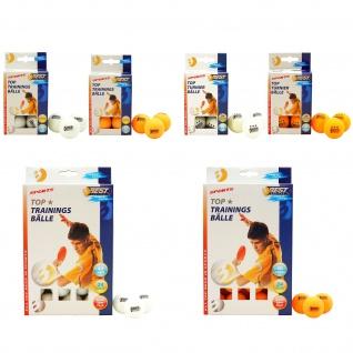 Best Sporting Tischtennisbälle, 1 oder 3 Sterne, 6 oder 24 Stück, orange oder weiß