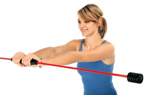 Best Sporting Swing Stick Fitness Schwingstab für Einsteiger und Fortgeschrittene, rot, Ganzkörpertraining, mit Trainingsanleitung