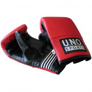 U.N.O. Boxhandschuhe FIT, Größe L, schwarz rot mit Aufdruck