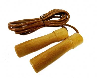 Best Sporting Springseil aus Leder mit Holzgriffen - für Ausdauertraining