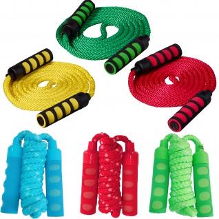 Best Sporting Springseil mit Softgriffen, 200 oder 400 cm, gelb, blau, grün oder rot