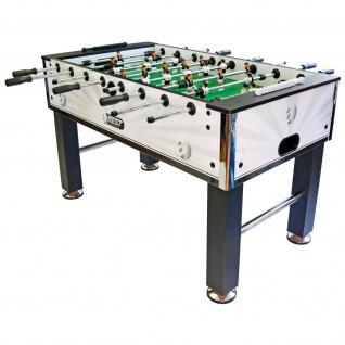 Best Sporting Tischkicker Premium mit großem Spielfeld, weiß-schwarz