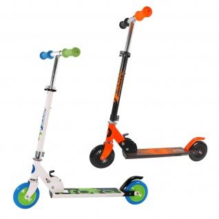 Best Sporting Scooter 125er Rolle, Tretroller für Kinder, klappbar, Farbe weiß/blau oder schwarz/orange