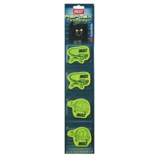 Best Sporting Reflektor-Aufkleber Reflex-Stickies, signal-gelb, 4 Sticker