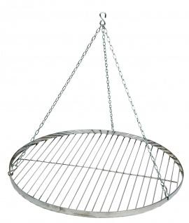 Best Sporting Schwenk-Grillrost mit Aufhängungs-Kette, Durchmesser ca. 60 cm, Edelstahl