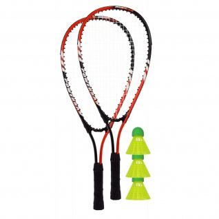 Best Sporting Powerbadminton Set, 2 Badminton-Schläger , 3 Bälle, inklusive Tragetasche