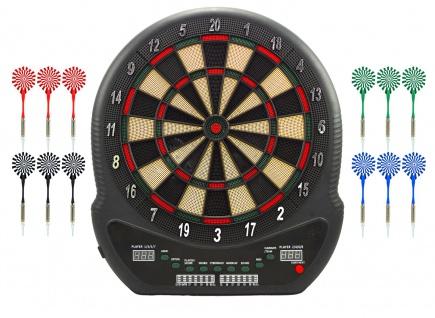 Best Sporting elektronische Dartscheibe BLACKPOOL LED-Anzeige Dartboard mit 12 Pfeilen