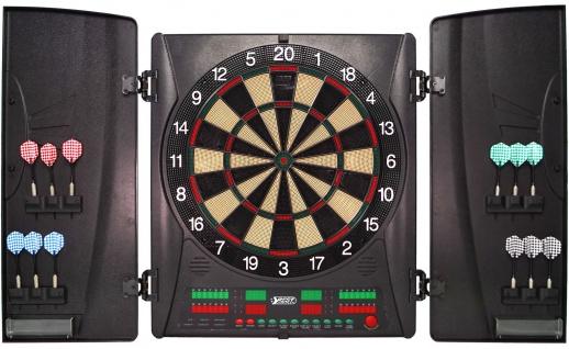 Best Sporting elektronische Turnier-Dartscheibe Wembley Dartboard LED Kabinett