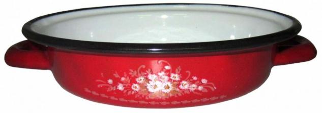 Best Sporting Eierbräter mit Griffen, 18 oder 24cm, rot